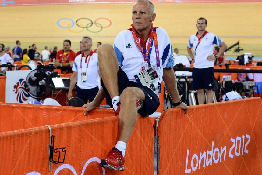 File photo of Shane Sutton at the London 2012 Olympic Games men's omnium 1km time trial cycling event, in London.