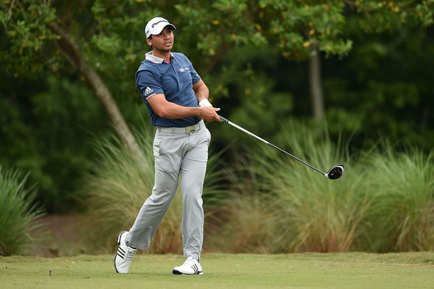 Jason Day of Australia hitting his tee shot on the 11th hole during the first round of the Zurich Classic at TPC Louisiana on April 28, 2016, in Avondale, Louisiana.