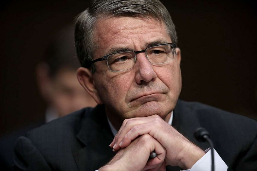 US Defence Secretary Ashton Carter testifies before the Senate Armed Services Committee on Thursday (April 28)  in Washington, DC.