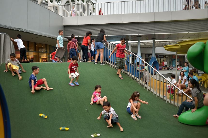The open-air playground at VivoCity. There is no practical way of stopping parents who are better endowed from investing heavily in their children, and no pressing reason for society to do so. However, ensuring a more level playing field is much needed bo