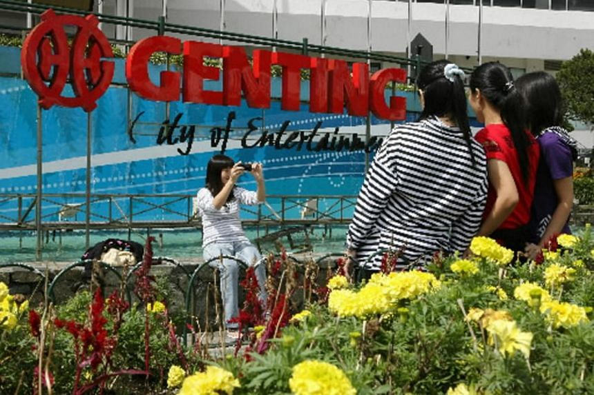 Tourists taking photographs at Genting Resorts Hotel in Malaysia in 2009.