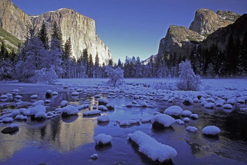 At the Yosemite National Park, you will be enchanted by nature's majestic beauty.