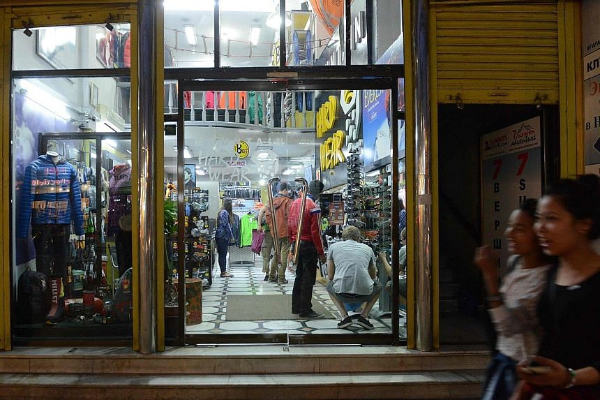 A mountaineering shop in Kathmandu. Some local operators offering cheaper expeditions are accused of endangering lives.