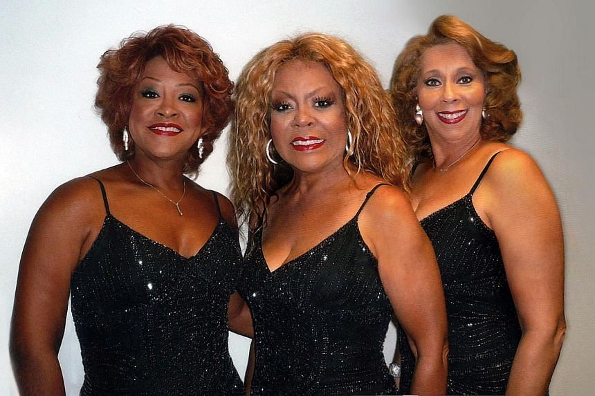 The current line-up of The Three Degrees (from far left) Valerie Holiday, Freddie Pool and Helen Scott, will perform here on Monday.