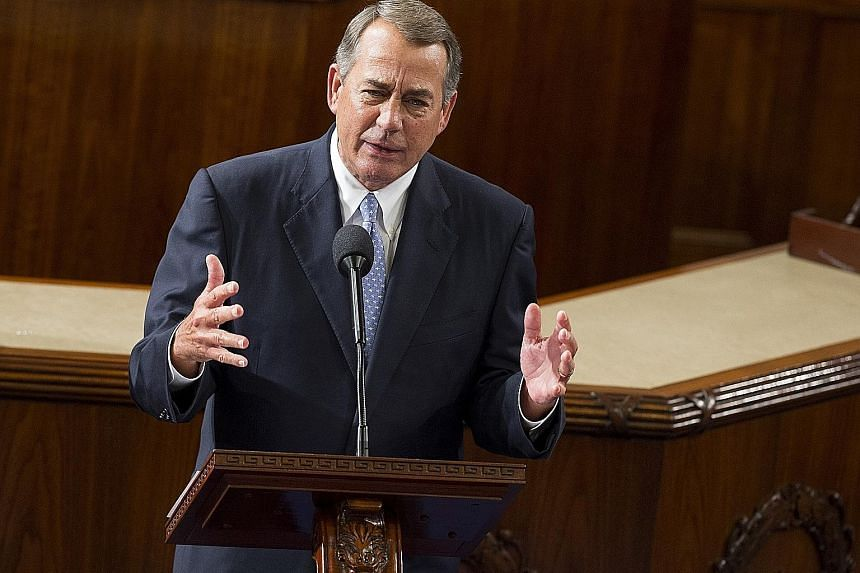 Mr Boehner made his remarks about Mr Cruz at a public talk at Stanford University.