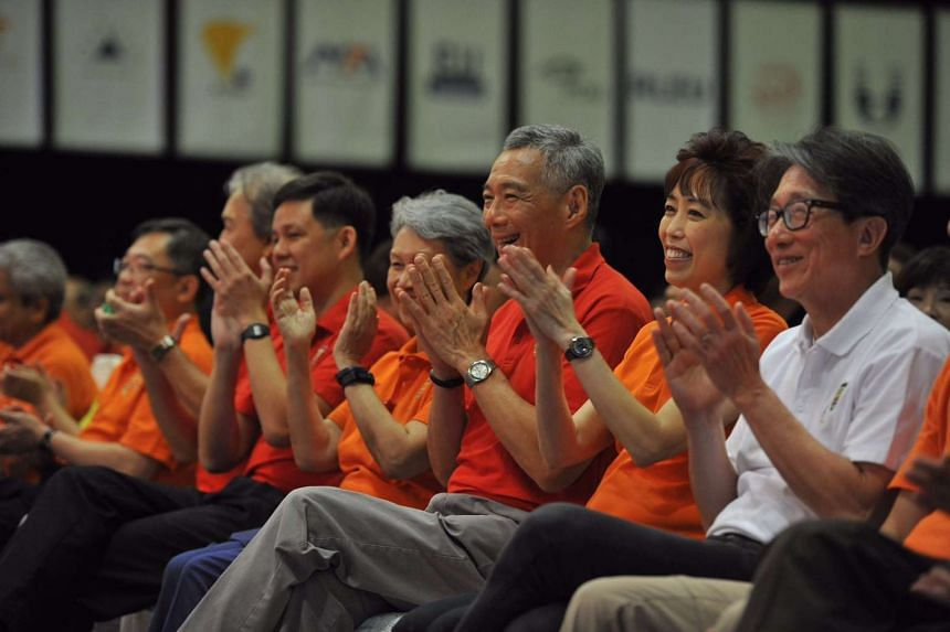 PM Lee Hsien Loong prior to giving his May Day Rally speech.