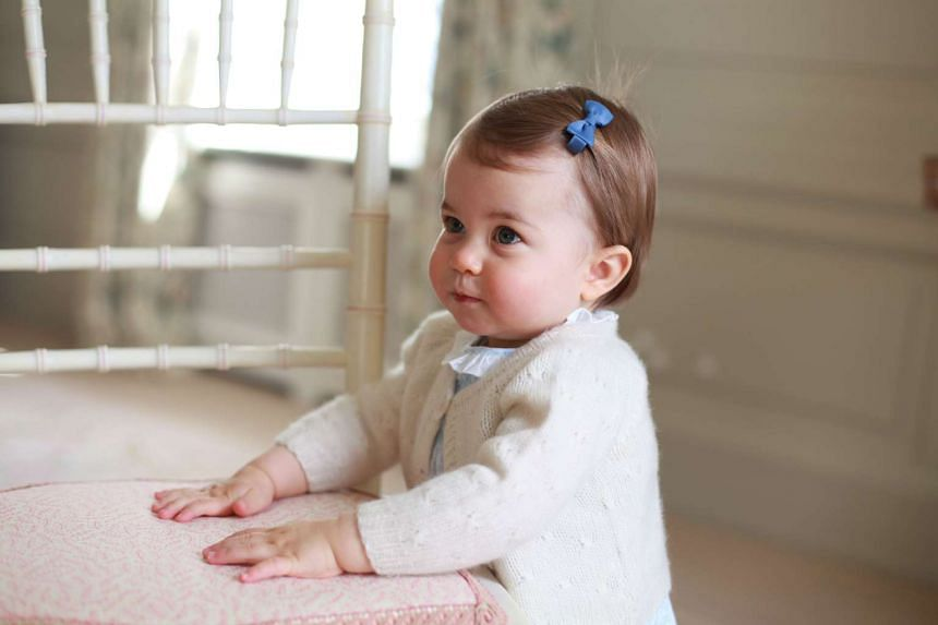 The British royal family released four pictures of Princess Charlotte on the occasion of her first birthday.