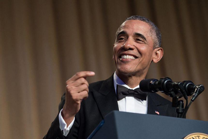 US President Barack Obama speaks at the 102nd White House Correspondents' Association Dinner in Washington, DC, on April 30, 2016.