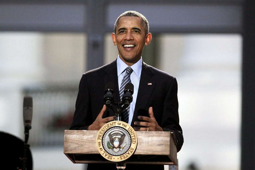 US President Barack Obama delivers remarks at the International Jazz Day Concert at the White House on Friday.