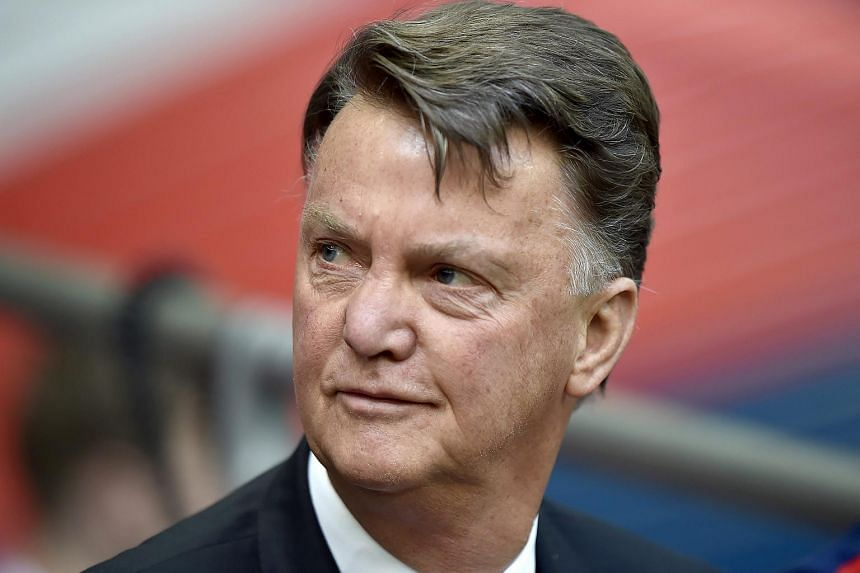 Manchester United's manager Louis van Gaal at the English FA Cup semi-final soccer match between Everton and Manchester United in London, on April 23, 2016.