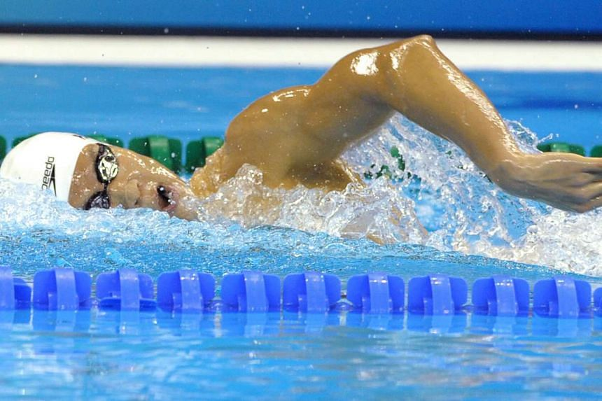 Park Tae Hwan competing in the men's 400m freestyle at the Fina World Championships in Shanghai, on July 24, 2011.