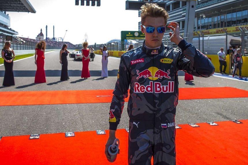 Daniil Kvyat of Red Bull at the starting grid ahead the 2016 F1 Russian Grand Prix in Sochi, on May 1, 2016.