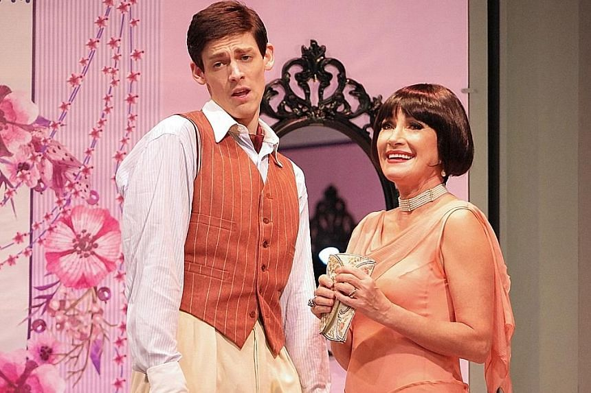 Alex Spinney and Jane Seymour star in Noel Coward's The Vortex.
