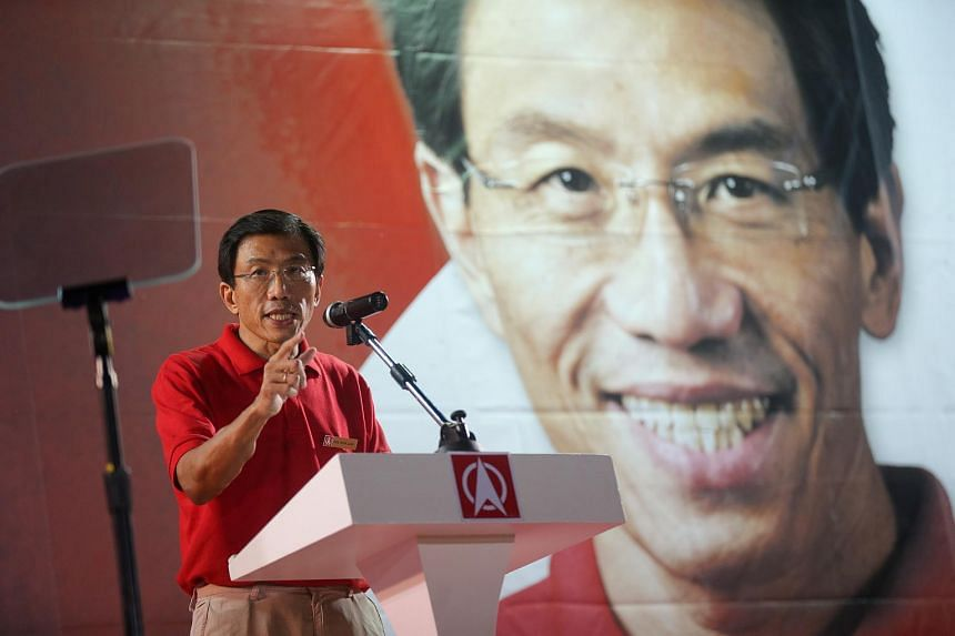 Singapore Democratic Party (SDP) candidate for Bukit Batok SMC, Dr Chee Soon Juan speaks at party rally at Bukit Gombak Stadium, on May 1, 2016.