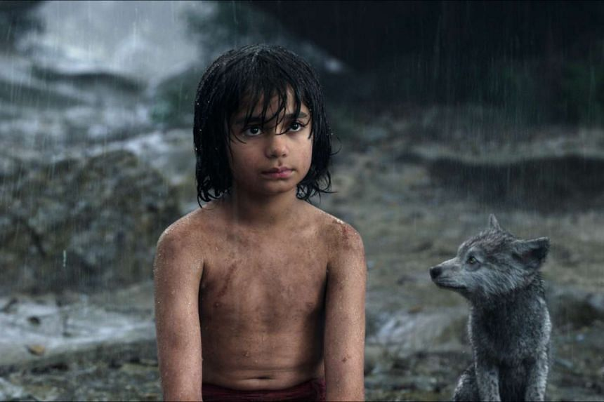 Mowgli chats with one of his animal friends in The Jungle Book.
