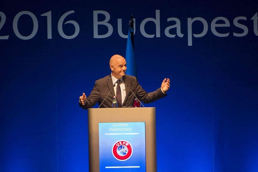 Fifa president Gianni Infantino speaking at the the 40th Ordinary Uefa Congress in Budapest, on May 3, 2016.