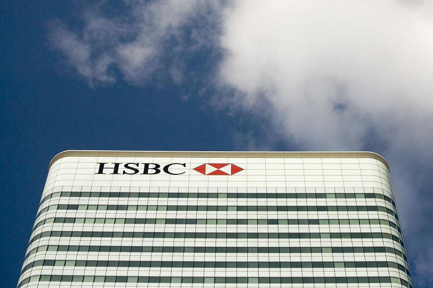 The HSBC building in Canary Wharf in London on Oct 8, 2008.