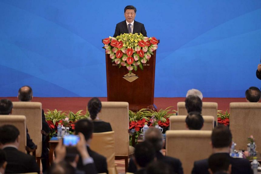 China's President Xi Jinping delivering a speech at the opening ceremony of the fifth regular foreign ministers' meeting of the Conference on Interaction and Confidence Building Measures in Asia (CICA) at the Diaoyutai State Guesthouse in Beijing on