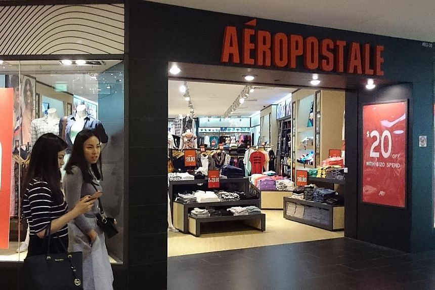Aeropostale has four outlets here, including one in Ngee Ann City (above). It was reported by The Wall Street Journal on Monday that the teen fashion retailer faces mounting losses and falling sales, and plans to seek Chapter 11 protection in the day