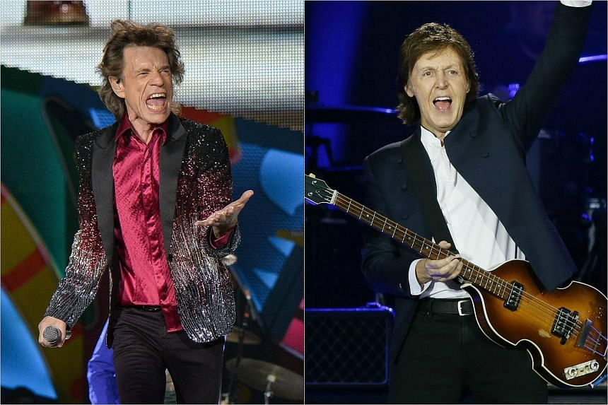 Iconic artists The Rolling Stones (left) and Paul McCartney are among the line-up for mega rock festival in October.