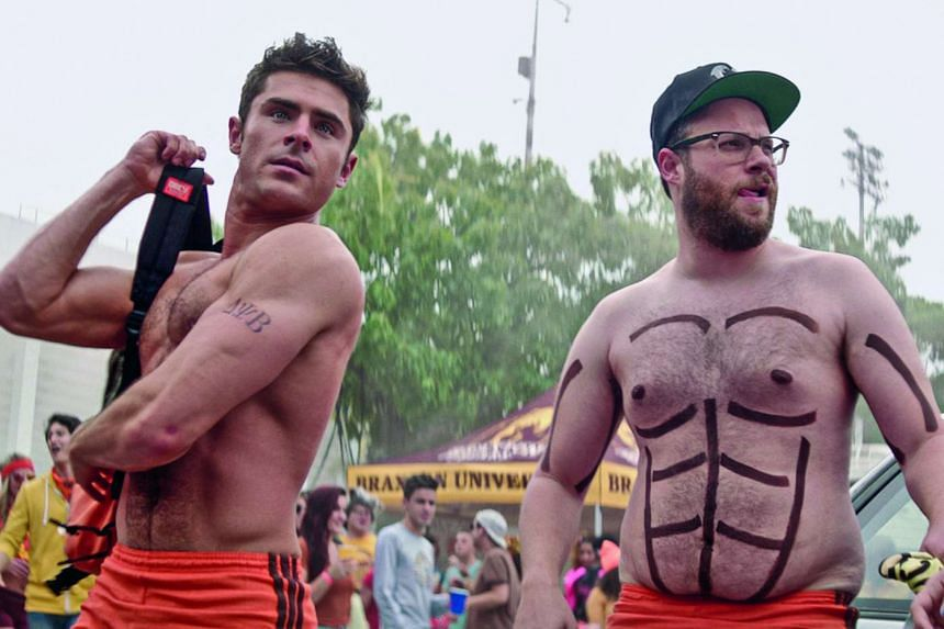 Zac Efron (left) and Seth Rogen star in the bawdy Bad Neighbors 2.