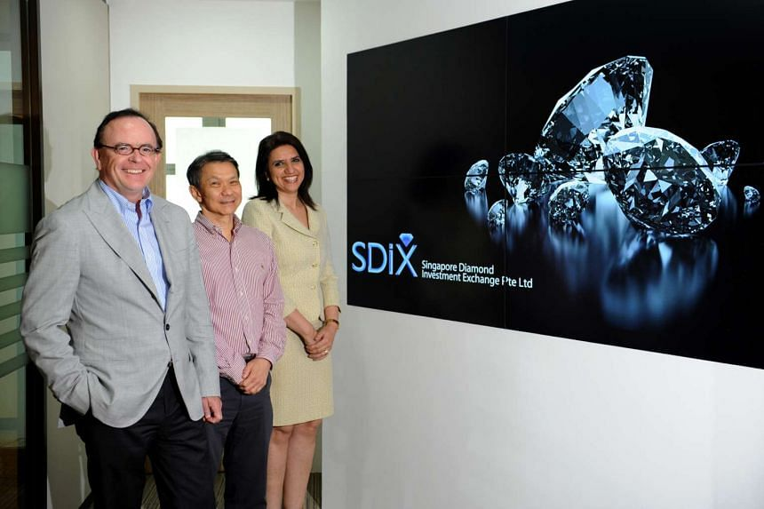 (From left) Alain Vandenborre, chairman and founder, Linus Koh, CEO, and Latika Kundu, COO of the Singapore Diamond Investment Exchange.