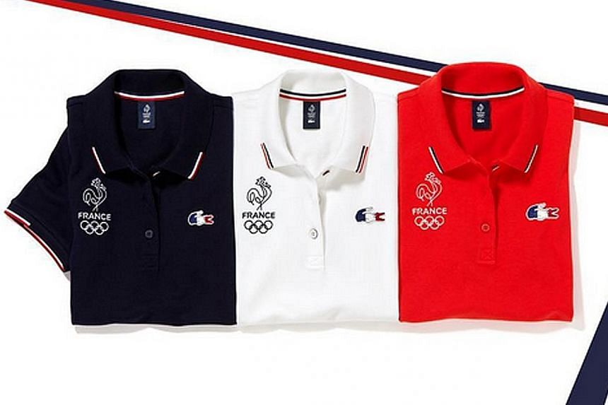Lacoste's uniforms for France's team at the 2016 Summer Games in Brazil are in the colours of the French flag.
