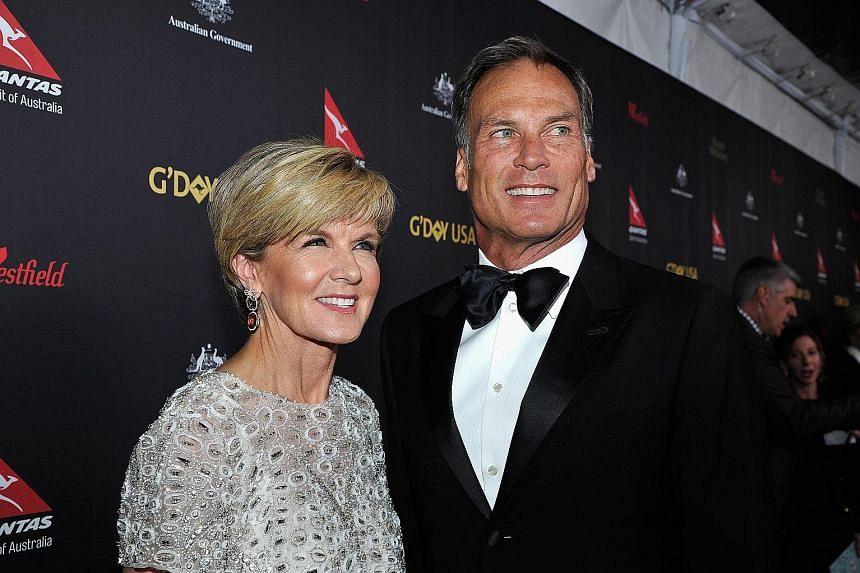 Ms Bishop and her long-time partner, Mr David Panton. The UN summit they both attended took place in New York last September.