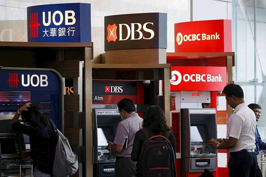 People use automated teller machines of United Overseas Bank Limited (UOB), Development Bank of Singapore (DBS) and Oversea-Chinese Banking Corporation (OCBC) banks in Singapore.