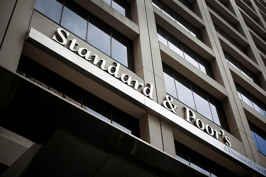 Standard & Poor's Financial Services LLC signage is displayed outside of the company's building in New York.