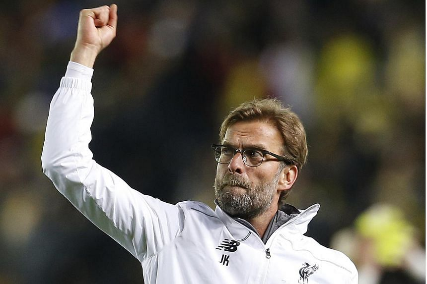 Liverpool manager Juergen Klopp at the end of the match between Villarreal and Liverpool, on April 28, 2016.