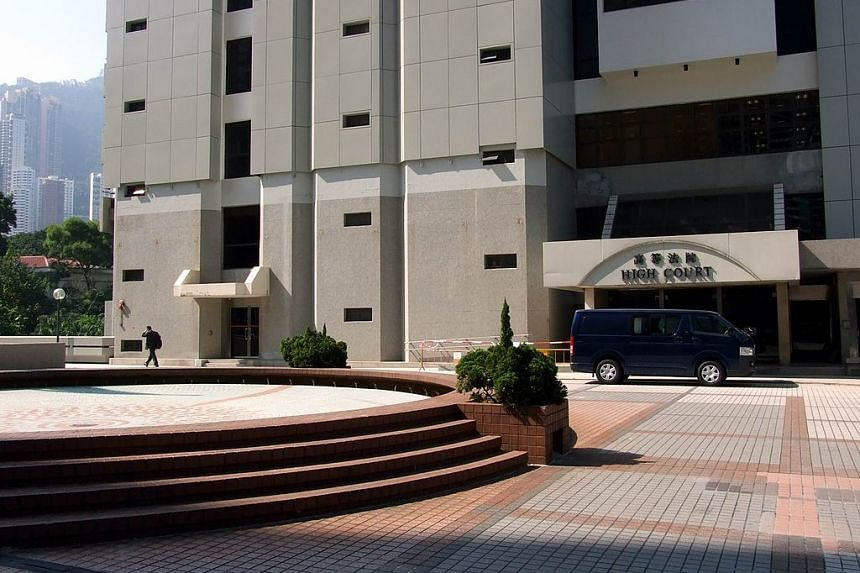 The entrance to Hong Kong's High Court building.