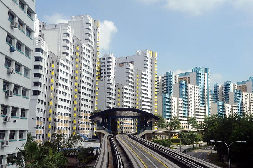 HDB flats at Bukit Panjang Ring Road near Jelapang LRT Station.