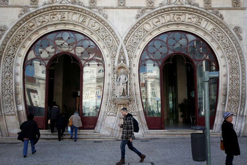 The Dom Sebastiao statue is seen at Rossio station in downtown Lisbon, Portugal on March 15, 2016.