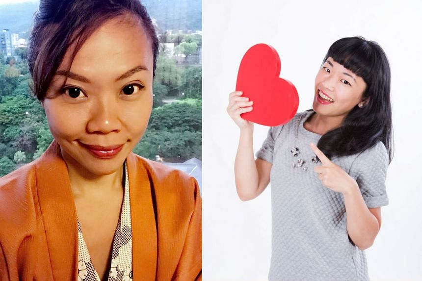 Ms Lim (left) and Ms Lin Tan are co-founders of Coaching- GoWhere.