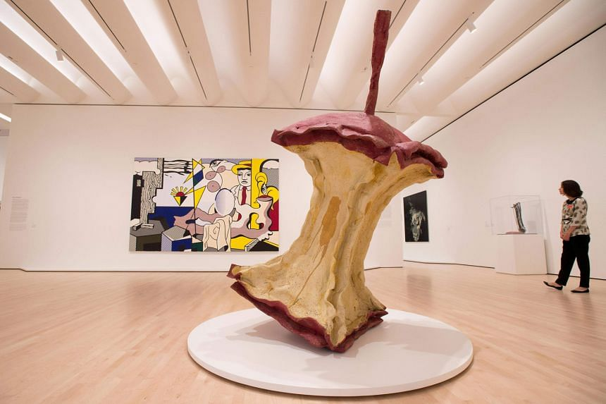 The sculpture Geometric Apple Core (above) by Claes Oldenburg in the San Francisco Museum of Modern Art.