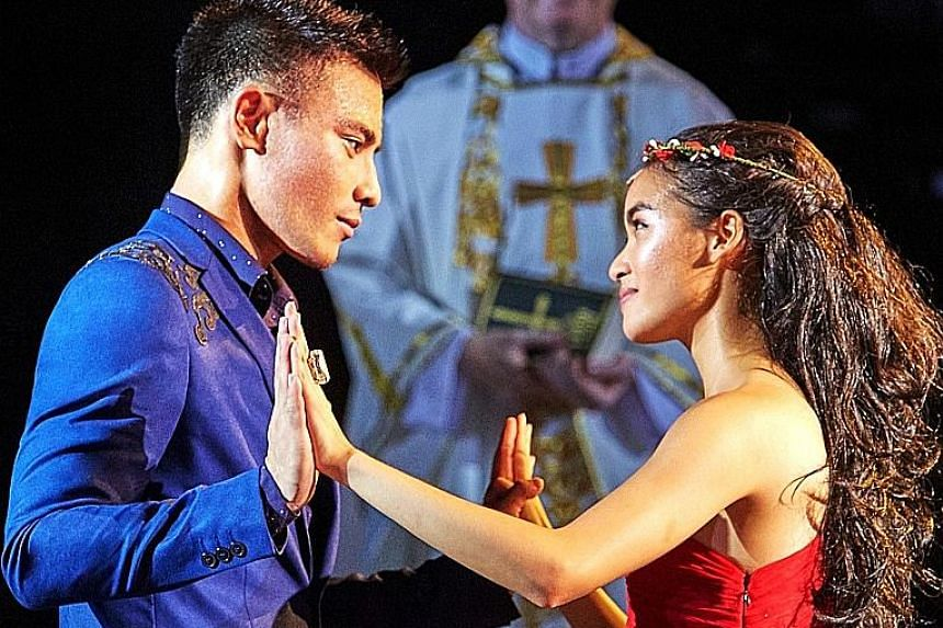 Cheryl Tan and Thomas Pang in Shakespeare In The Park - Romeo And Juliet.
