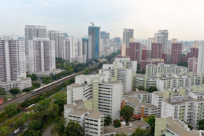 A total of 1,828 HDB units changed hands last month - the highest monthly volume since October 2012, when 1,955 units were resold. Overall resale prices inched down slightly by 0.1 per cent.
