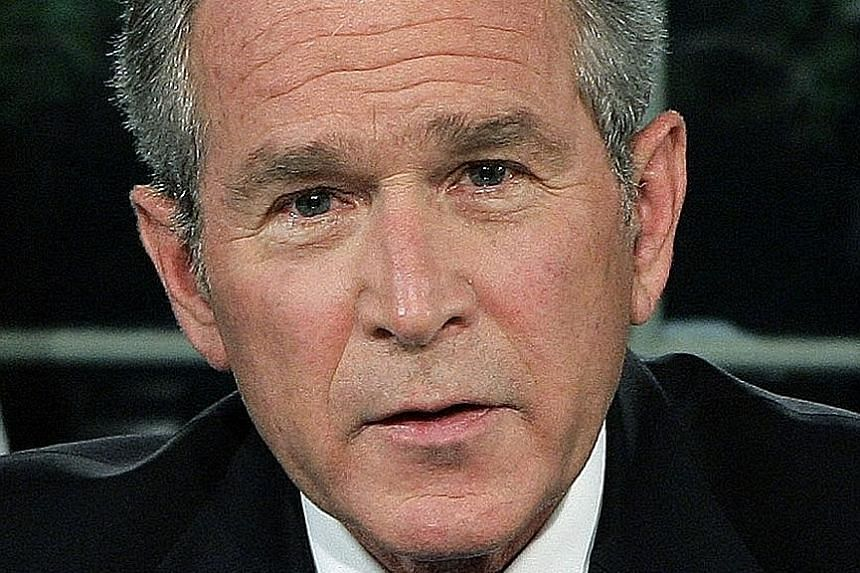 Mr George H.W. Bush (top) and Mr George W. Bush (above) will not endorse anyone.