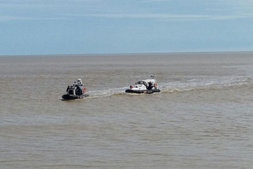 The search and rescue team searching for the main body of the helicopter.