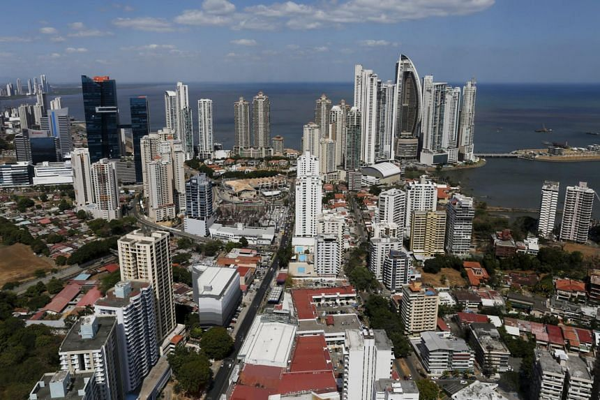 A general view of a high income neighbourhood of Panama City, on April 6, 2016.