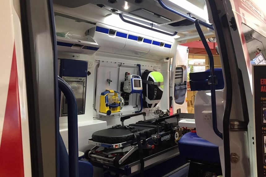 The inside of SCDF's next-generation ambulance.
