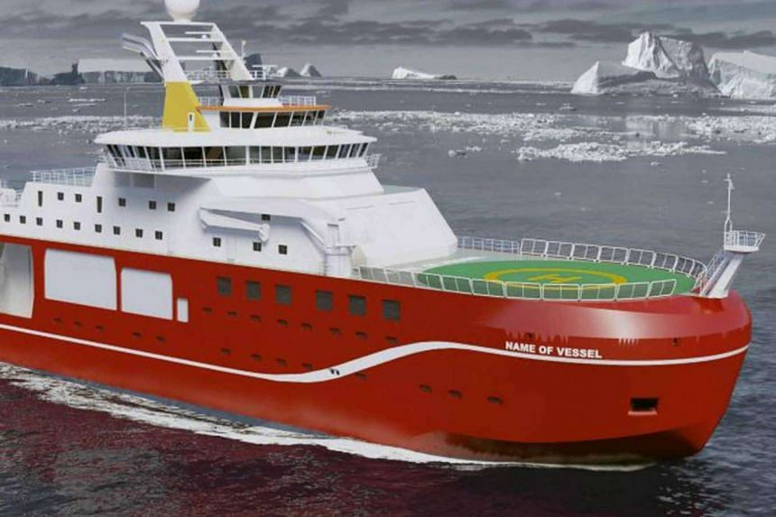 The RRS Sir David Attenborough is being built on Merseyside and is due to set sail in 2019.