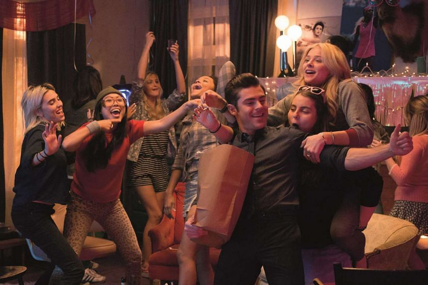 Zac Efron plays an ex-frat boy living in a sorority with Chloe Grace Moretz (right).