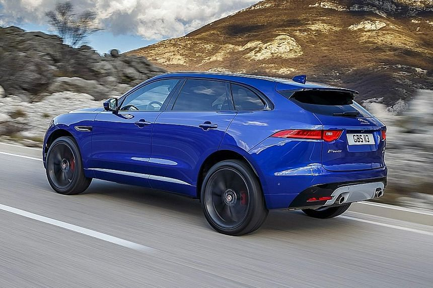 The Jaguar F-Pace feels grippy and stable travelling along mountain roads.