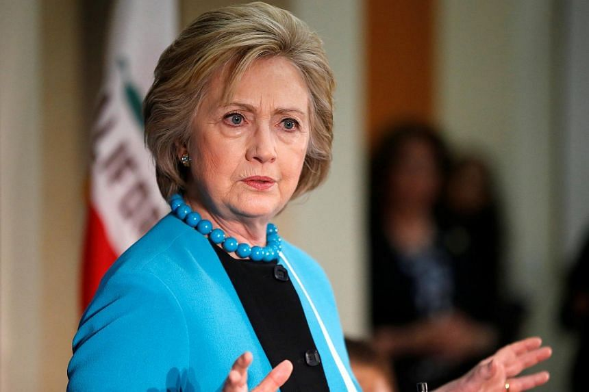 US Democratic presidential candidate Hillary Clinton speaking during a visit to the California African American Museum in Los Angeles, California on May 5, 2016.