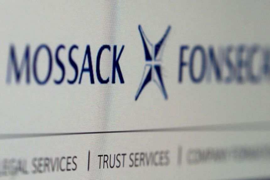 The website of the Mossack Fonseca law firm, whose documents were leaked.