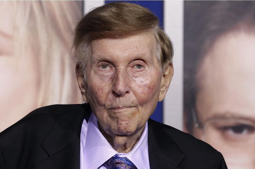 Mr Sumner Redstone  arriving at the premiere of The Guilt Trip in Los Angeles, in this file photo taken on Dec 11, 2012.
