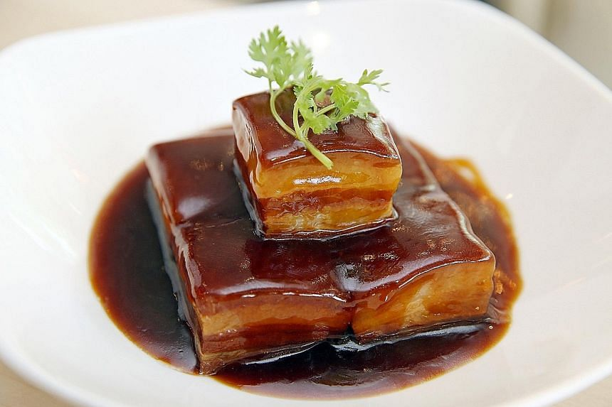 The best Dong Po Pork is so tender that it wobbles as it is carried to the table.