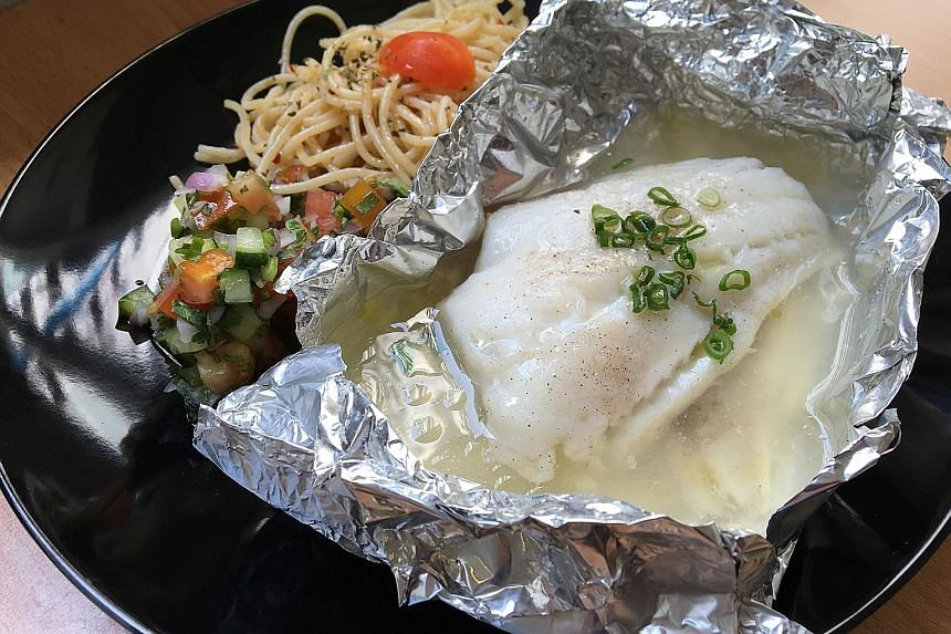 Whathefish's poached cod.